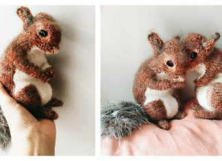 Squirrel Toy Free Knitting Pattern