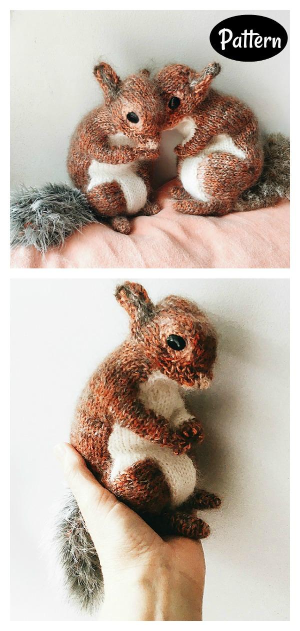 Squirrel Toy Knitting Pattern