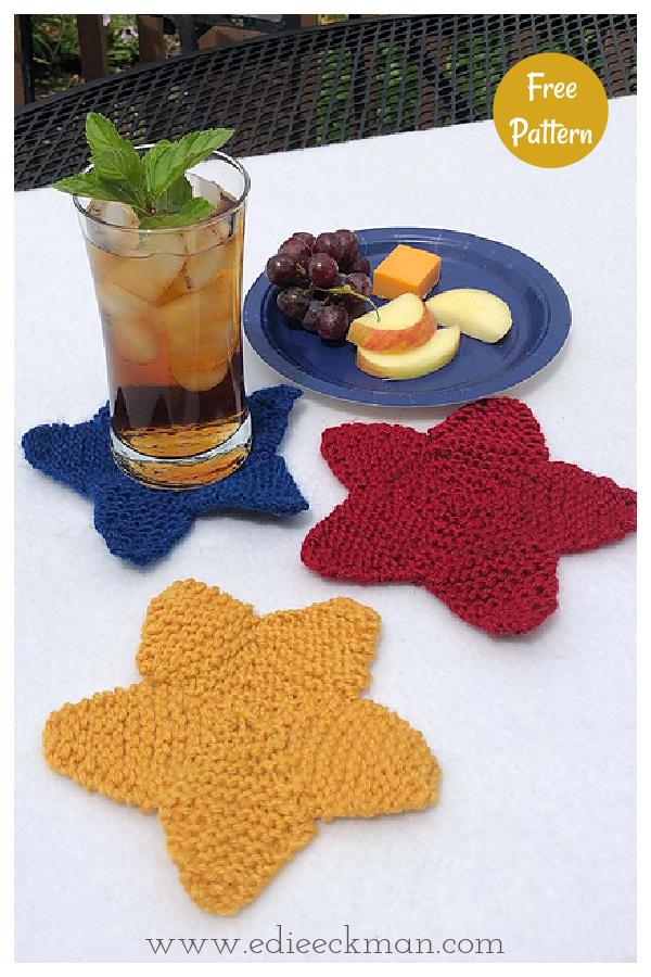 Star Coasters Free Knitting Pattern