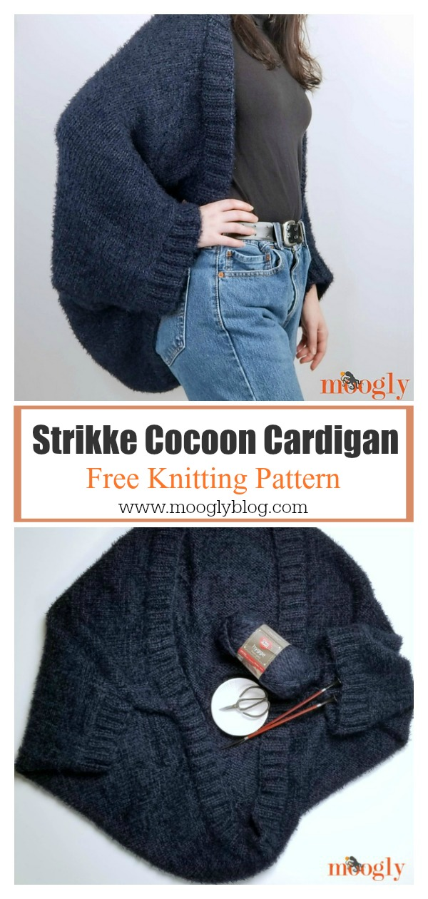 Strikke Cocoon Cardigan Free Knitting Pattern