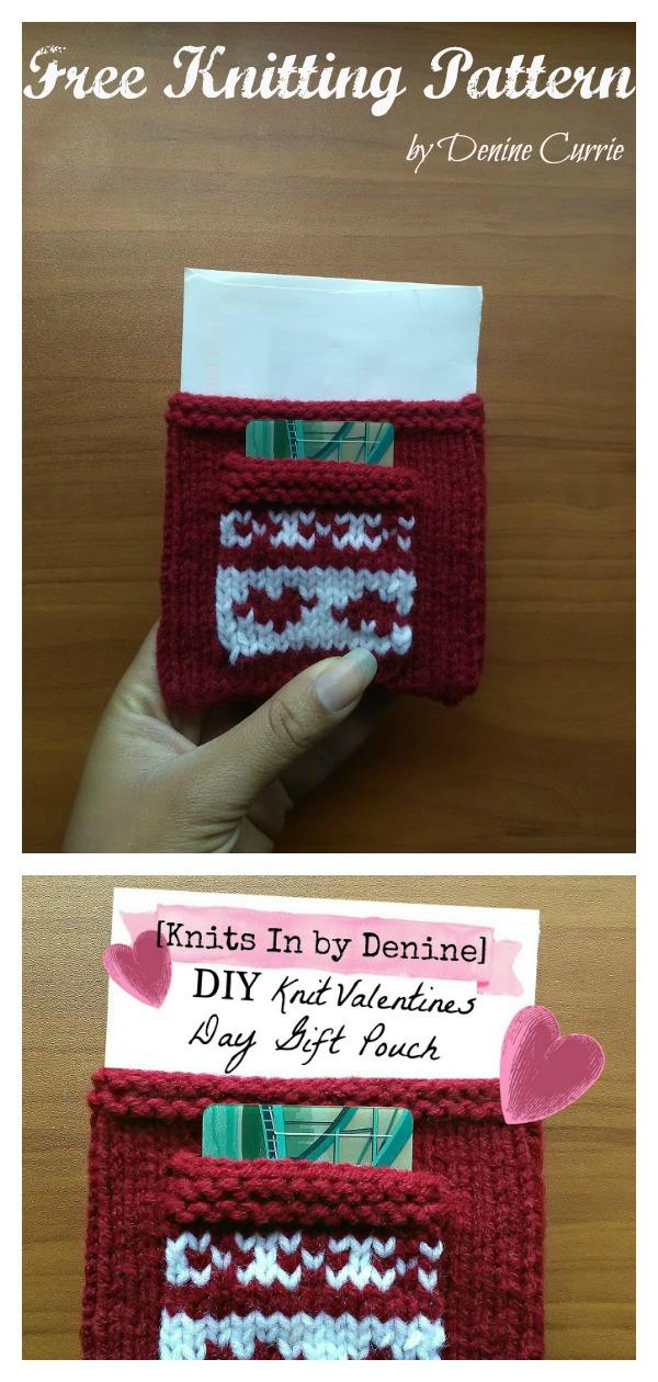 Sweet Heart Gift Bag Free Knitting Pattern