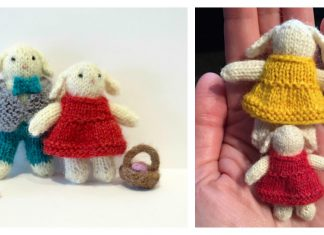 Tiny Bunny Couple Free Knitting Pattern