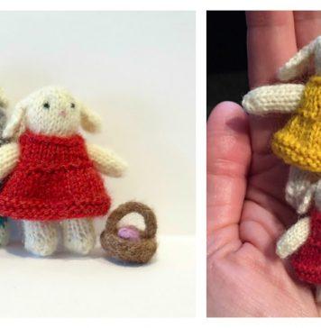 Tiny Bunny Couple Free Knitting Pattern