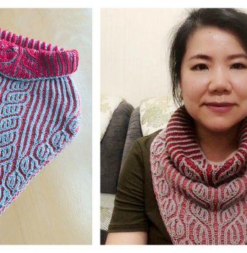Triangle Brioche Cowl Free Knitting Pattern