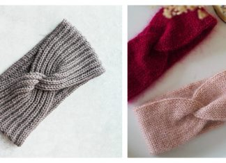 Twist Headband Free Knitting Pattern