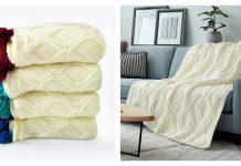 Twisted Blanket Free Knitting Pattern