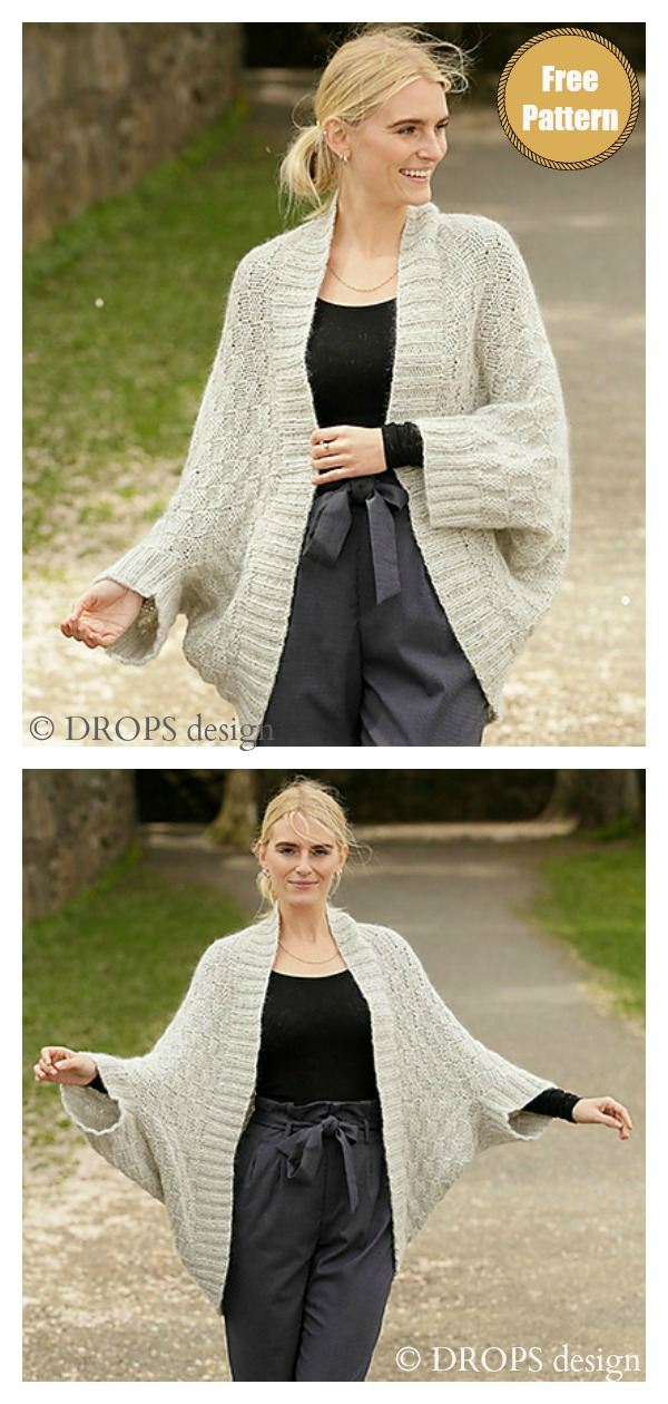 Winter Cocoon Cardigan Free Knitting Pattern