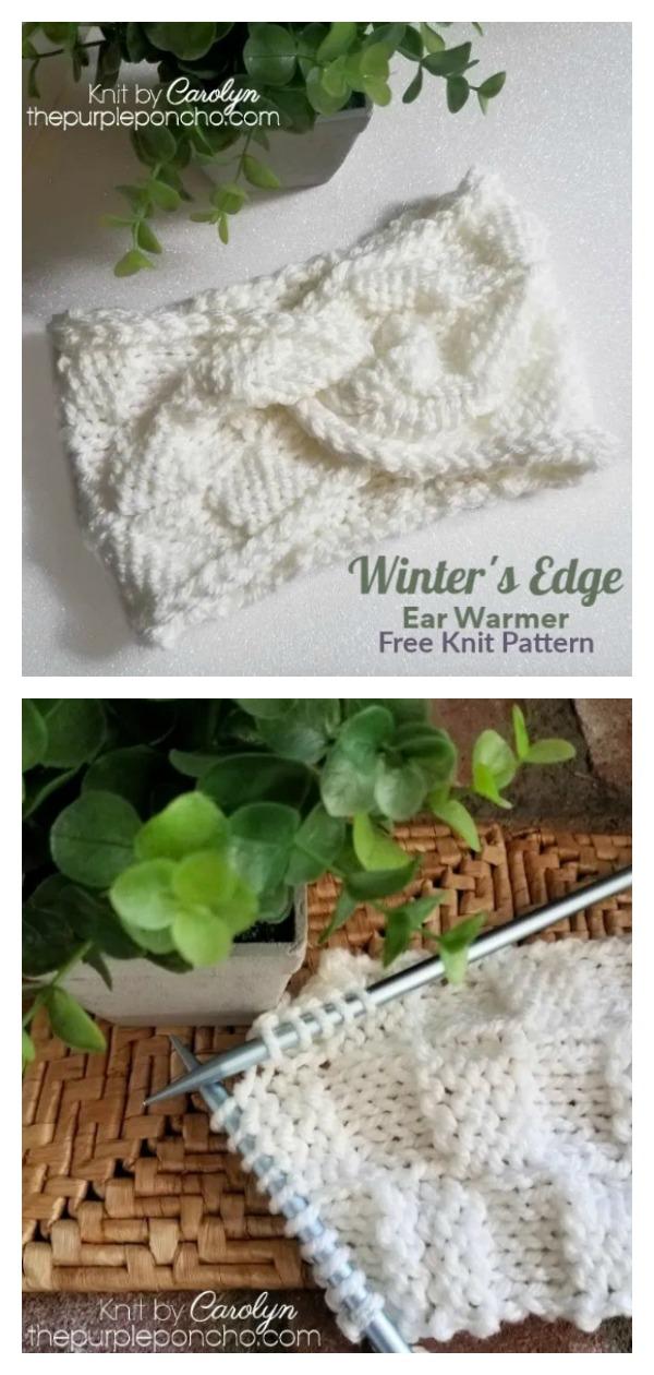 Winter's Edge Twist Ear Warmer Free Knitting Pattern