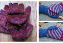 2 in 1 Fingerless Gloves & Mittens Free Knitting Pattern