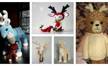 Adorable Deer Free Knitting Pattern and Paid