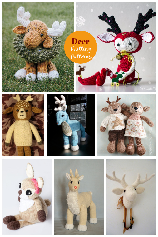 8 Adorable Deer Knitting Patterns