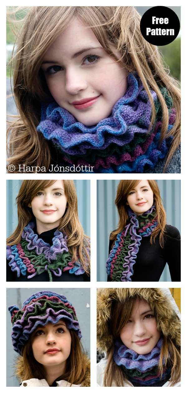Alda Multi-Wear Scarf Free Knitting Pattern