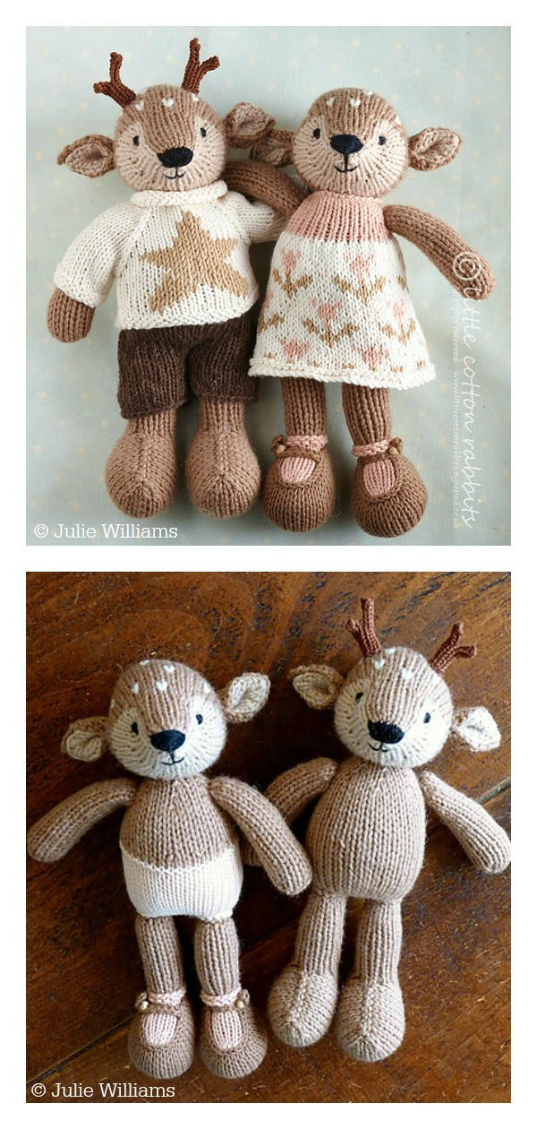 Amigurumi Deer Toy Knitting Pattern