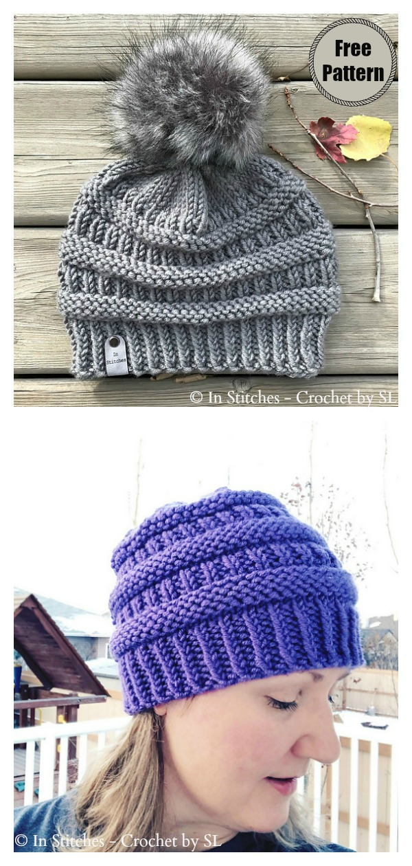 CC Style Boulder Beanie Hat Free Knitting Pattern
