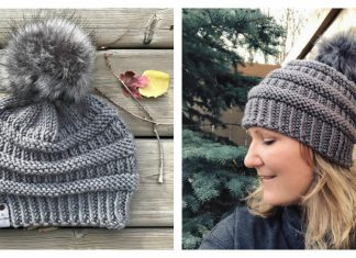 CC Style Boulder Beanie Hat Free Knitting Pattern