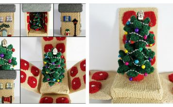 Christmas House Free Knitting Pattern