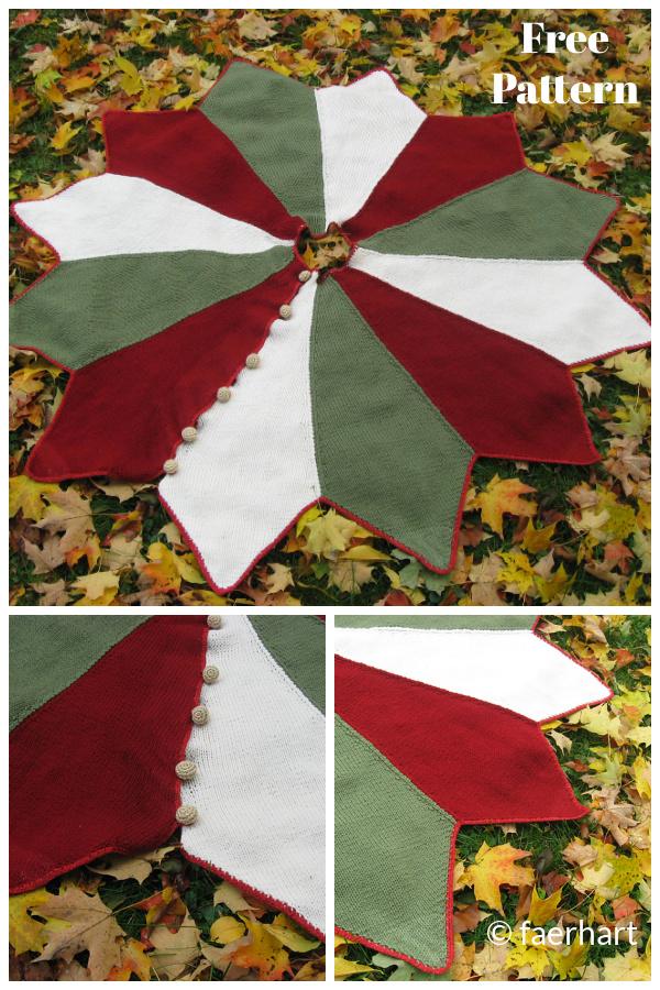 Christmas Tree Skirt Free Knitting Pattern