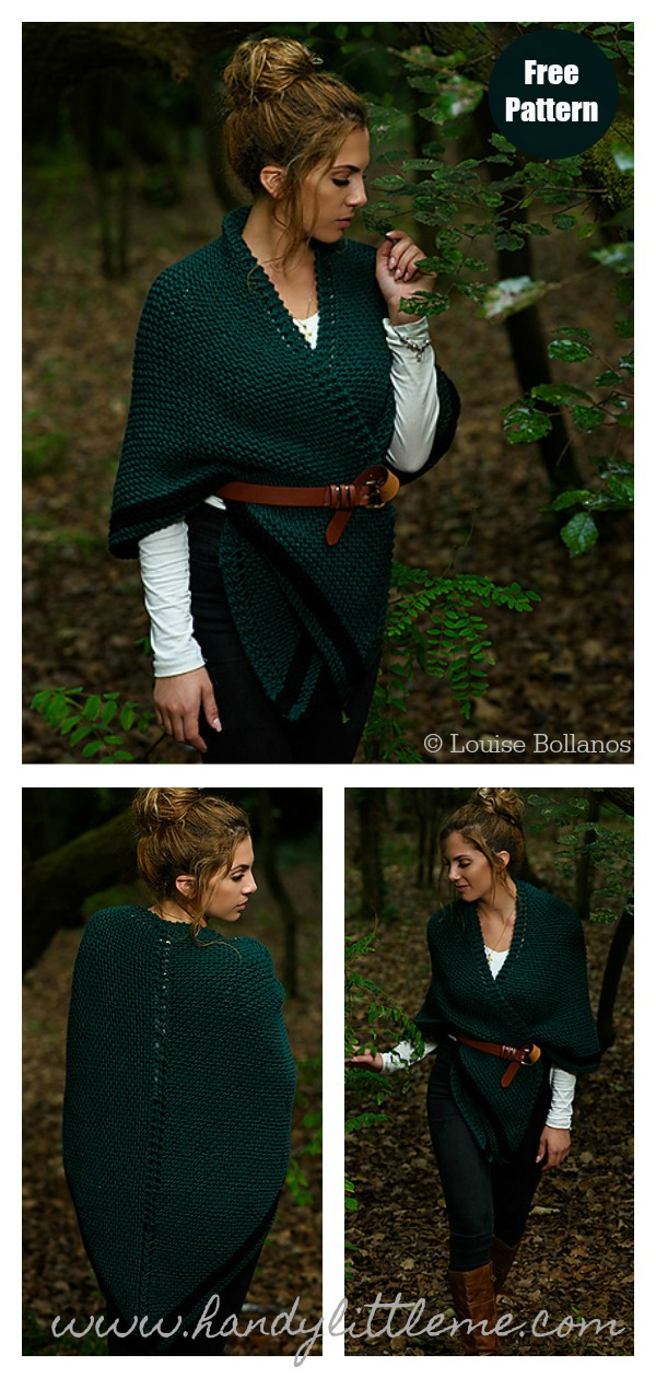 Claire's Rent Shawl Free Knitting Pattern