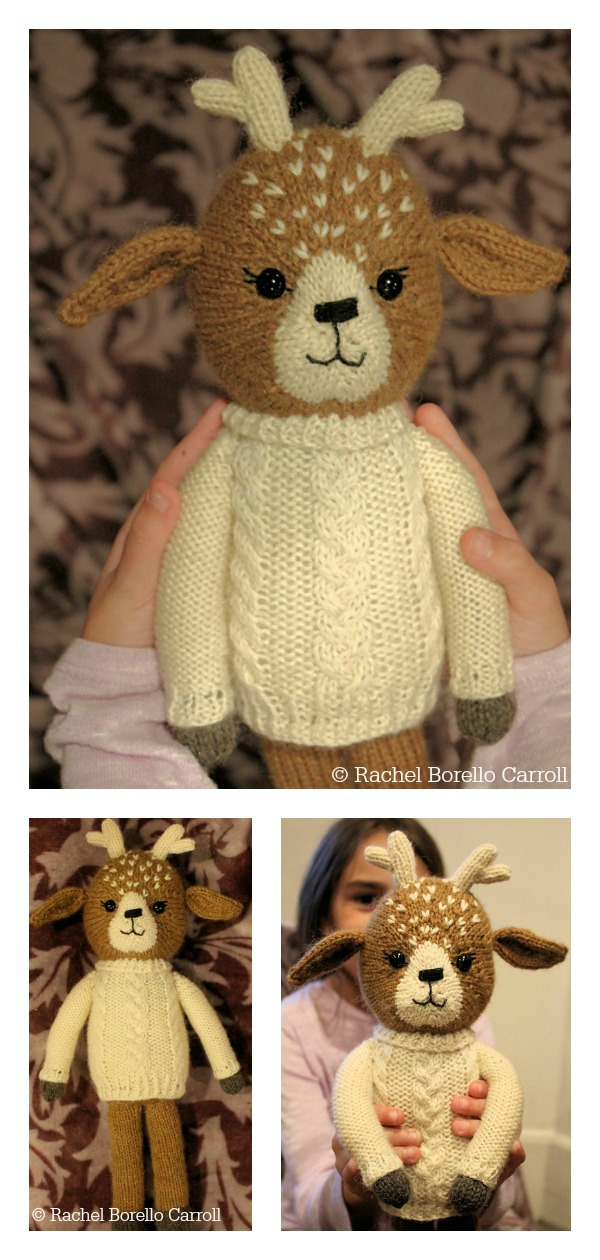 Clara the Fawn Amigurumi Deer Knitting Pattern