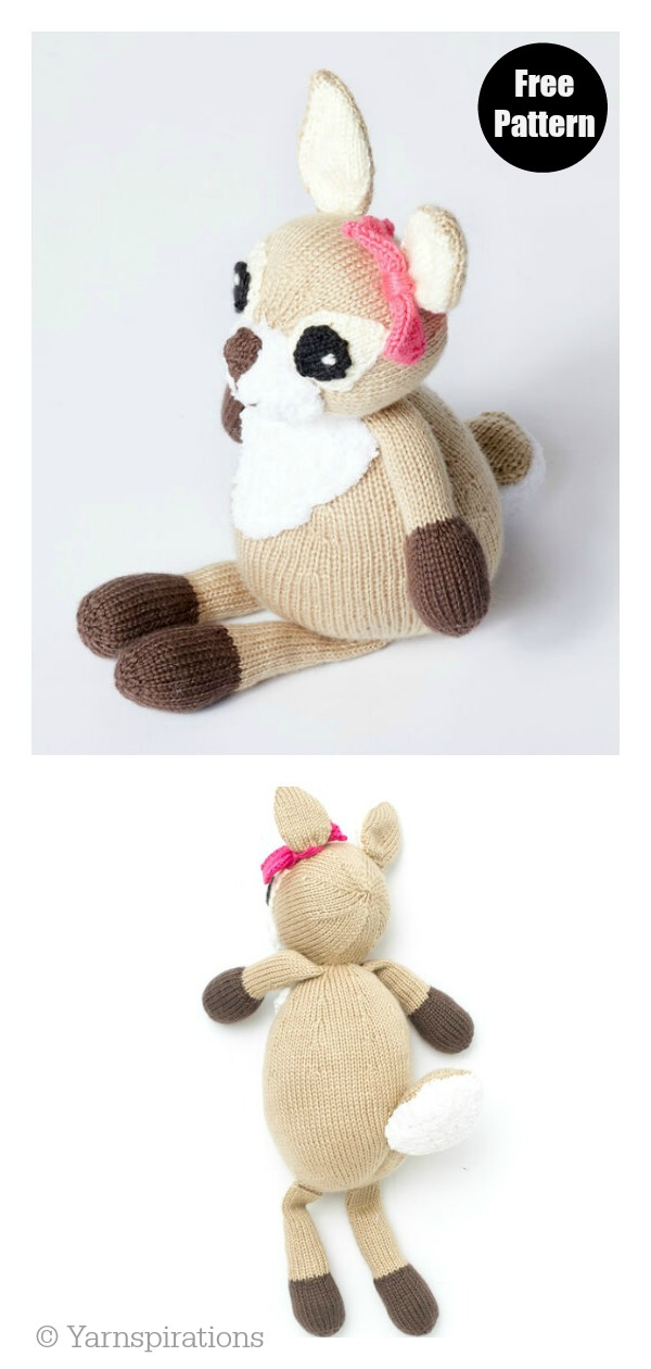 Dotty the Fawn Doll Free Knitting Pattern