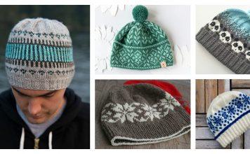 Fair Isle Hat Free Knitting Pattern