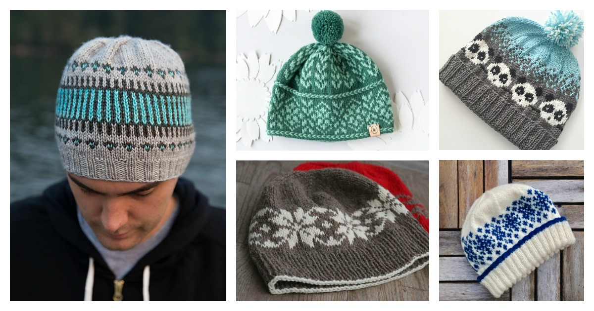 fair isle hat knitting pattern free