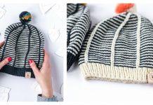 Fancy Striped Hat Free Knitting Pattern