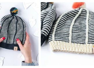 Fancy Striped Hat Free Knitting Pattern