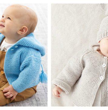 Garter Stitch Baby Sweater