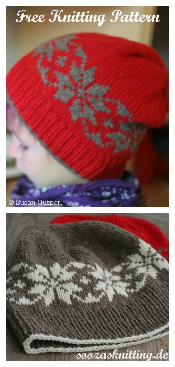 Snow Stars Fair Isle Hat Free Knitting Pattern