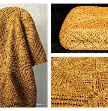 Square Dance Blanket Free Knitting Pattern