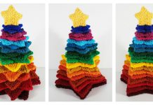 Stacking Stars Rainbow Tree Free Knitting Pattern