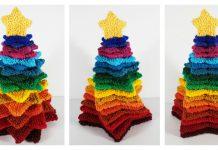 Stacking Stars Rainbow Tree Free Knitting Pattern