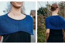 Stylish Capelet Free Knitting Pattern