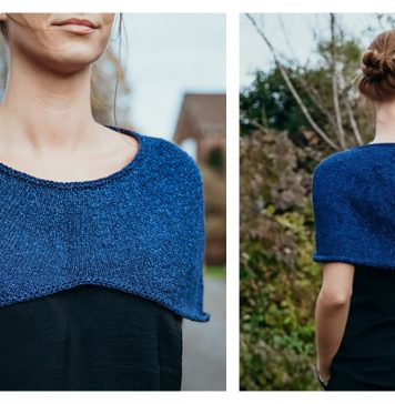 Stylish Capelet Free Knitting Pattern