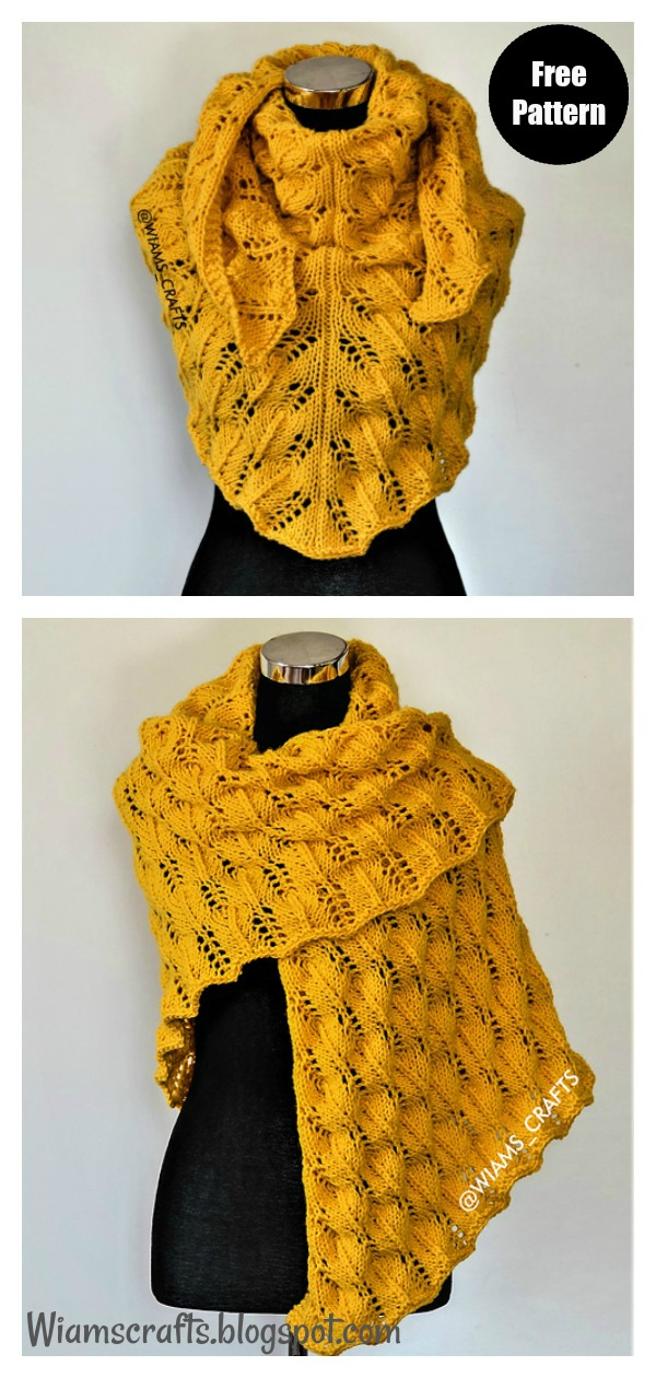 Sunflower Swirls Lace Shawl Free Knitting Pattern