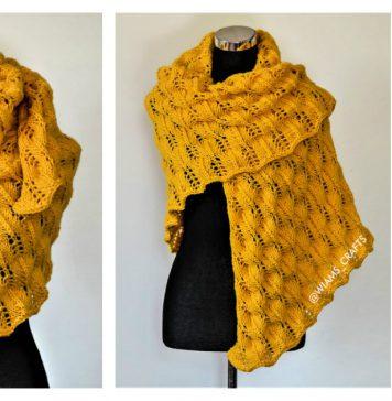 Sunflower Swirls Lace Shawl Free Knitting Pattern