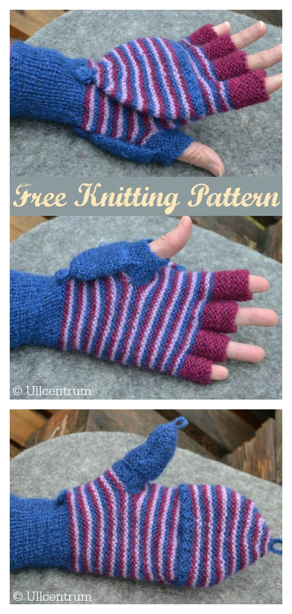 Two in one Convertible Mittens Free Knitting Pattern