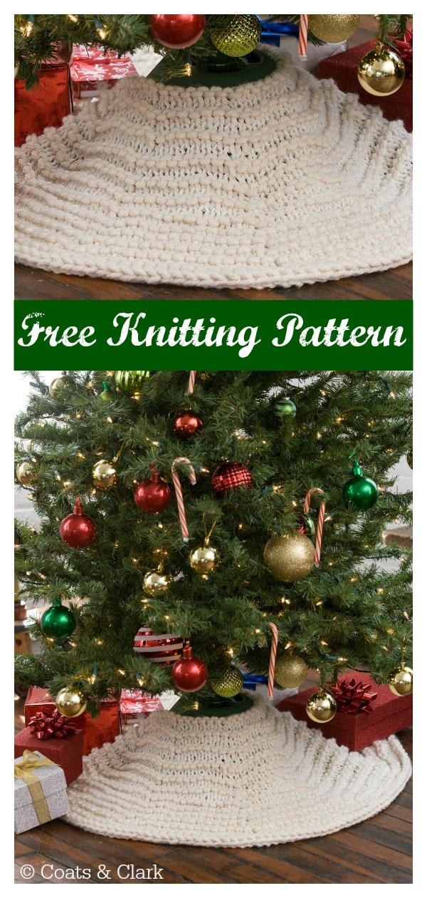 Winter Wonderland Tree Skirt Free Knitting Pattern