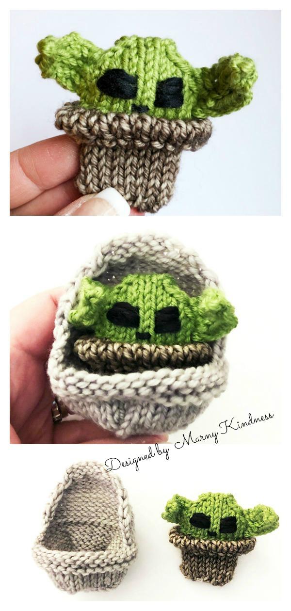 Amigurumi Baby Yoda Doll Free Knitting Pattern
