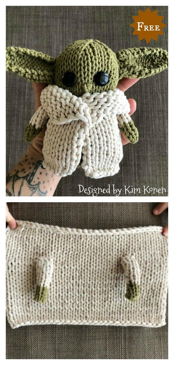 Amigurumi Yoda Doll Free Knitting Pattern