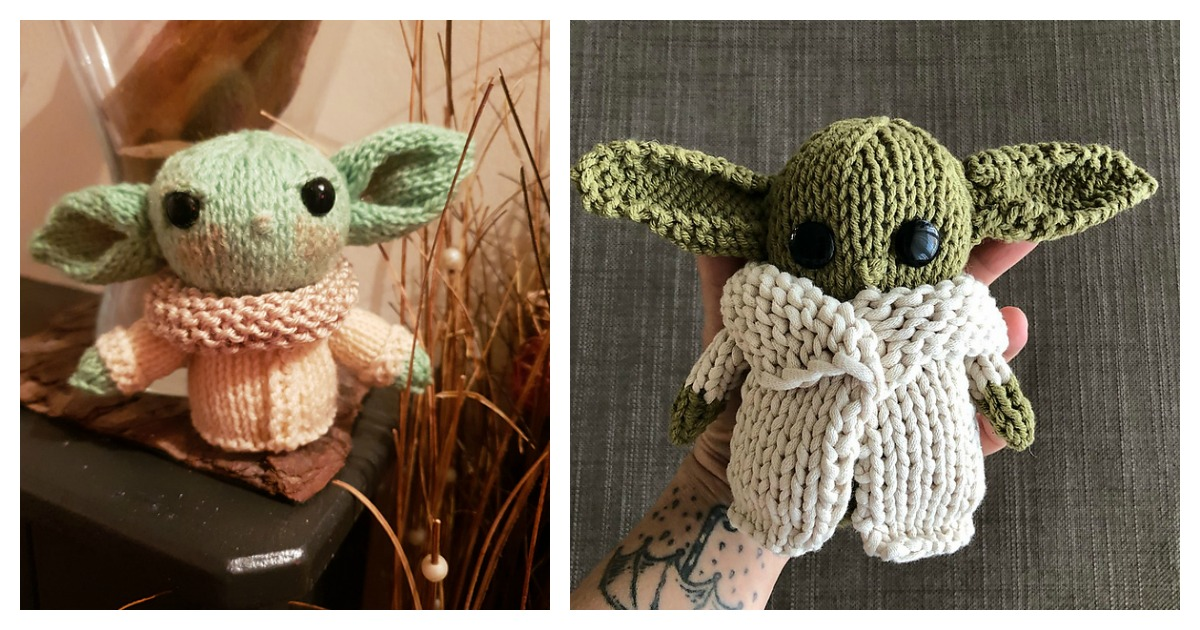 Amigurumi Pattern Baby Yoda Amigurumi Knitted Crochet By Knitoys ... | 630x1200
