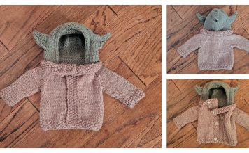 Baby Yoda Sweater Free Knitting Pattern