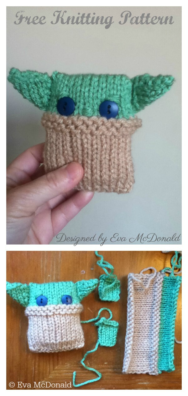 Beginner Baby Yoda Doll Free Knitting Pattern