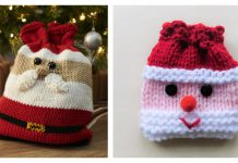 Christmas Gift Bag Free Knitting Pattern