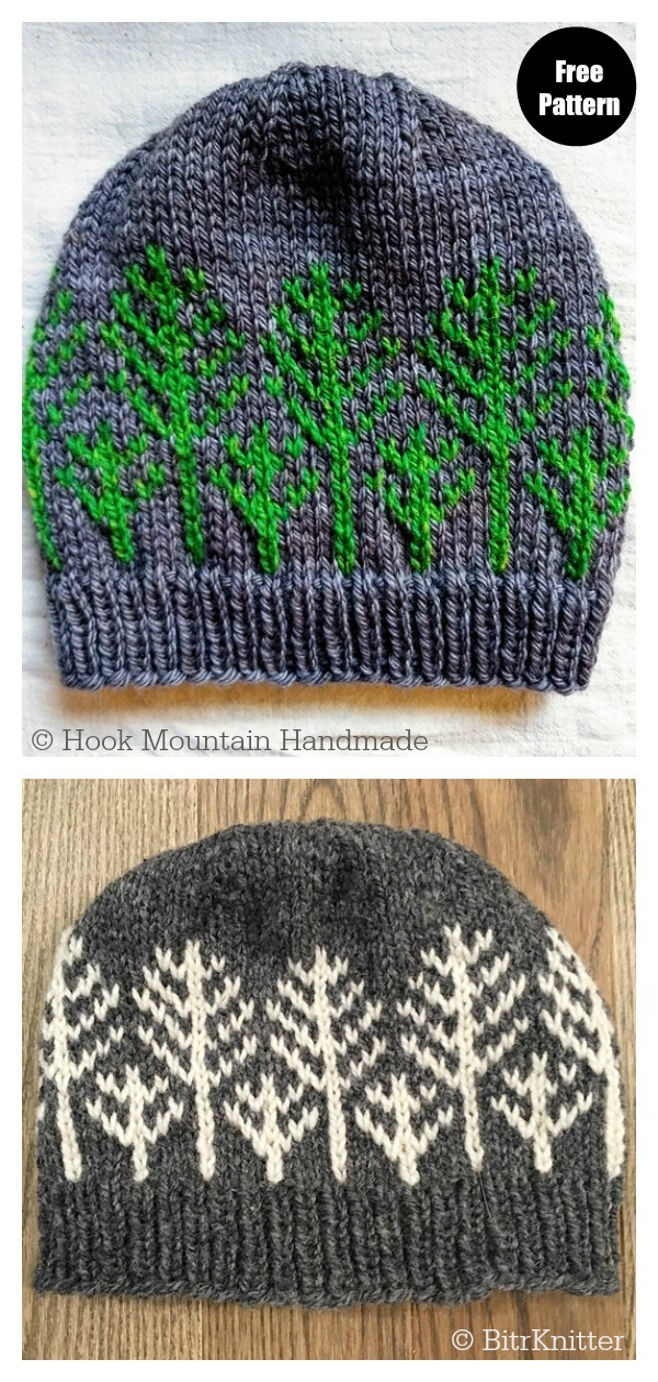 Forest For The Trees Hat Free Knitting Pattern