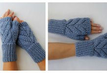 Leaves Fingerless Gloves Free Knitting Pattern