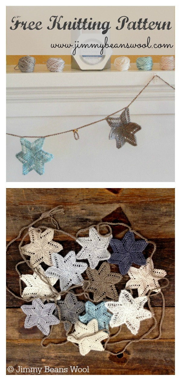 Luxury Holiday Star Garland Free Knitting Pattern