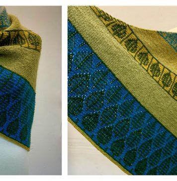 Mosaic Sideways Shawl Knitting Pattern