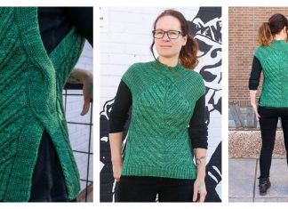 Open Road Sweater Vest Free Knitting Pattern